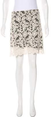 Alice + Olivia Crocheted Mini Skirt