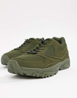 Asos Design DESIGN sneakers in block khaki chunky sole