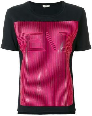 Fendi contrast logo patch T-shirt