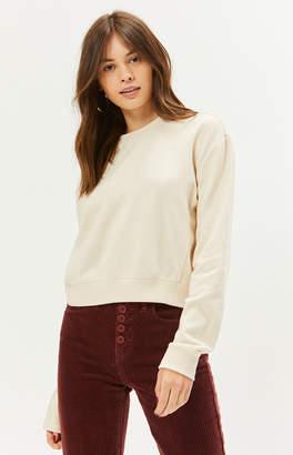 La Hearts Basic Paneled Pullover Sweatshirt
