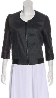 Helmut Lang Leather-Accented Casual Jacket