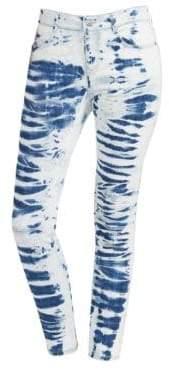 Stella McCartney Women's Tie-Dye Skinny Jeans - Light Blue - Size 28 (4-6)