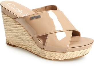 Calvin Klein Jacolyn Wedge Slide Sandal