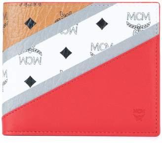 MCM logo colour-block wallet