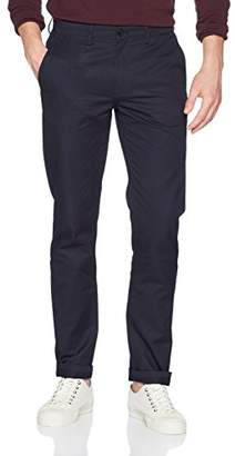Mens Classic Twill Trousers, Blu (Navy), 34 Fred Perry