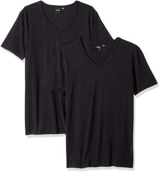 HUGO BOSS Men's T-Shirt Vn 2p Co/El 10194356 01