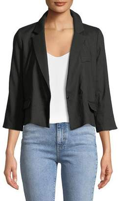 Milly 3/4-Sleeve Cropped Blazer