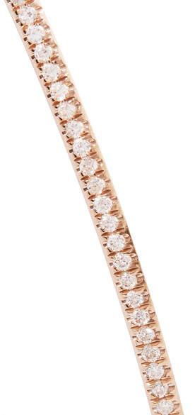 Diane Kordas Bar 18-karat Rose Gold Diamond Choker