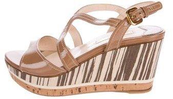 pradaPrada Platform Wedge Sandals