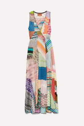 Missoni Patchwork Crochet-knit Midi Dress - Blue