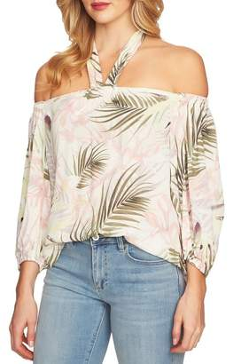 Cynthia Steffe CeCe by Soft Palms Off the Shoulder Halter Top
