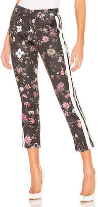 Pam & Gela Fineline Floral Crop Flare Pant