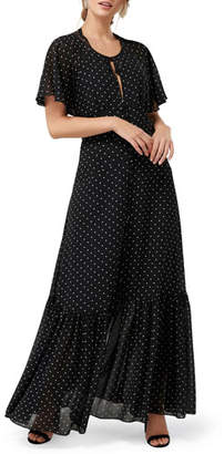 Ever New Spotty Open-Back Maxi Dress