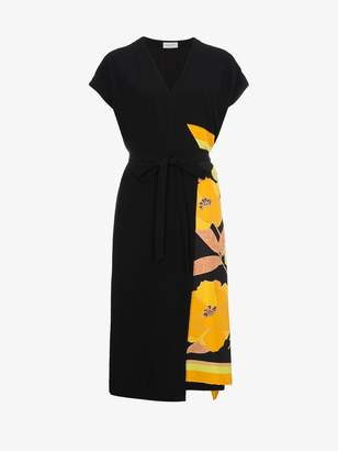 Dries Van Noten floral print wrap dress