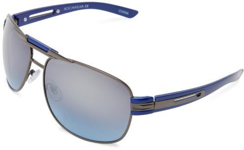 Rocawear R1239 GUNBL Aviator Sunglasses