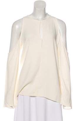 Theory Long Sleeve Cold-Shoulder Blouse w/ Tags
