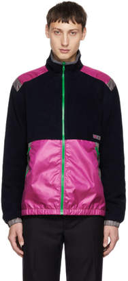 Lanvin Navy and Pink Mix Fabric Jacket