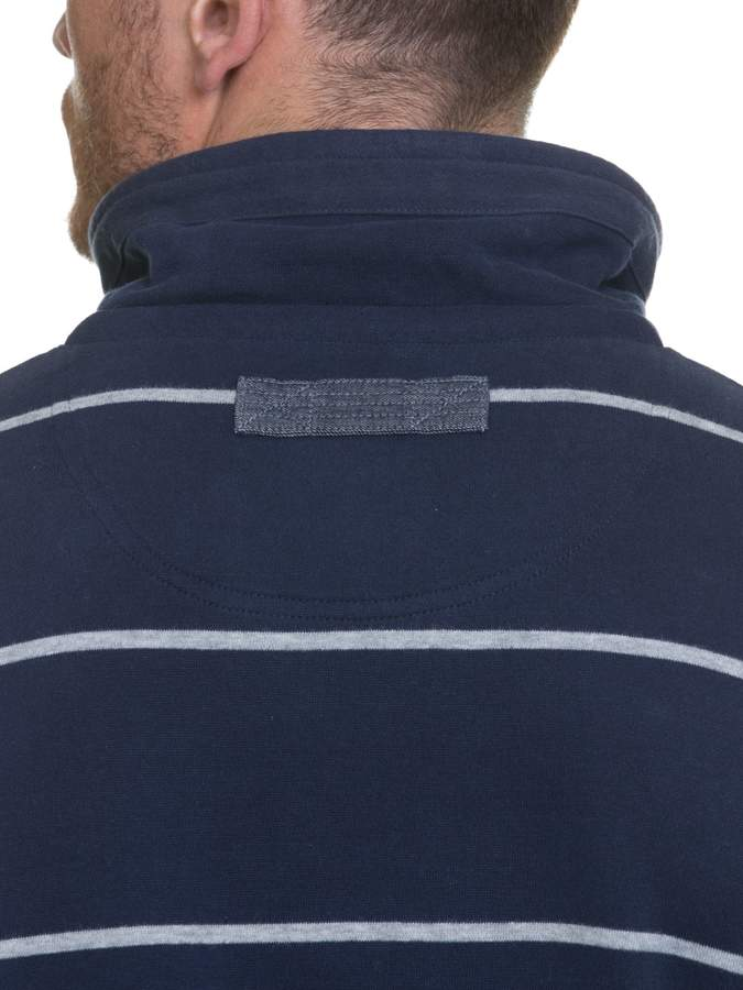 Men's Raging Bull Big & Tall Stripe Jersey Quarter Zip Sweater
