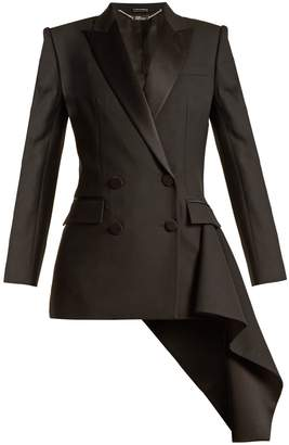 ALEXANDER MCQUEEN Asymmetric-drape double-breasted jacket