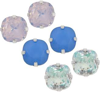 Joan Rivers Classics Collection Joan Rivers Set of 3 Clip or Pierced Vintage Style Stud Earrings