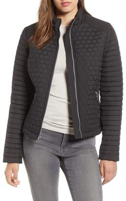 Andrew Marc Honeycomb Quilted Moto Jacket