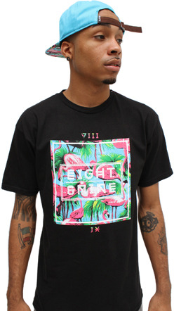 8&9 Clothing Miami Life Black T-Shirt