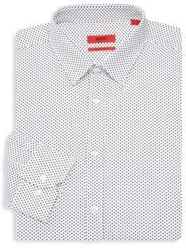 HUGO BOSS Triangle-Print Dress Shirt