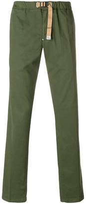White Sand buckled straight trousers
