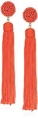 Panacea Nylon Tassel Drop Earrings