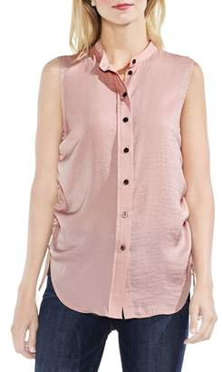 Vince Camuto Sleeveless Side Drawstring Rumple Blouse