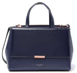 Ted Baker Dadelph Zipped Top Leather Tote Bag