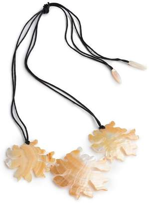 Josie Natori Mother Of Pearl Coral Triple Necklace