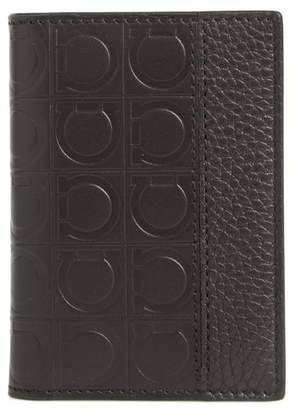 Salvatore Ferragamo Firenze Leather Folding Card Case