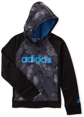 adidas Boys 8-20) Black Digit Fushion Print Pullover Hoodie
