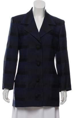 Salvatore Ferragamo Silk & Wool Embroidered Blazer