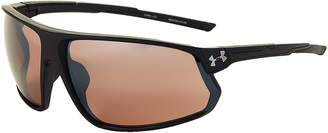 Under Armour 8650108 Black Strive Reflective Wrap Sunglasses