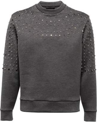 Prada Studded technical cotton sweatshirt
