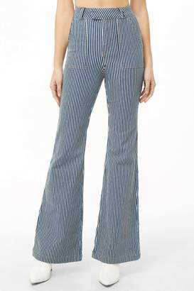 Forever 21 Pinstriped Flared Jeans