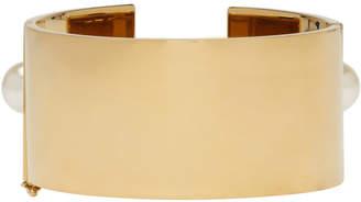 Chloé Gold Large Darcey Pearl Bracelet