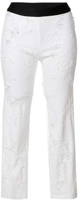 Ann Demeulemeester distressed cropped leggings
