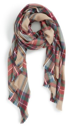 Sole Society Plaid Blanket Scarf $49.95 thestylecure.com