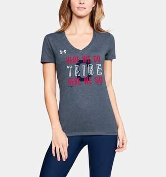 Under Armour Women's MLB UA Tri-Blend Chant V-neck Short Sleeve