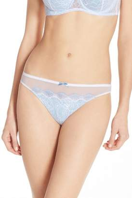 B.Tempt'd B. Sultry Lace Front Thong