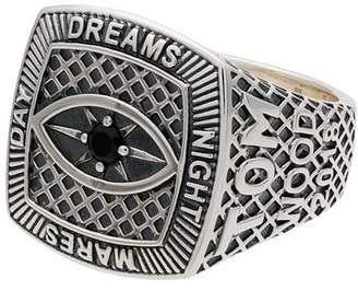 Ring Black Tom Wood sterling silver and spinel Champion Black Eye ring