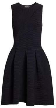 Emporio Armani Ottoman-Knit Fit-&-Flare Dress