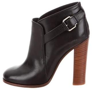 Celine Leather Round-Toe Ankle Booties