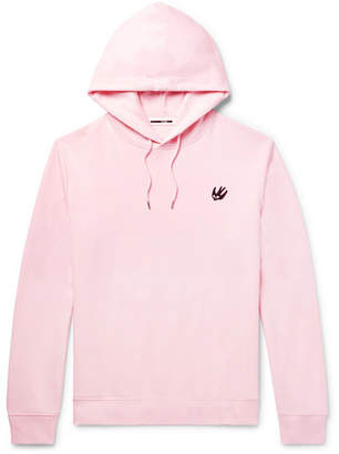McQ Appliquéd Loopback Cotton-Jersey Hoodie