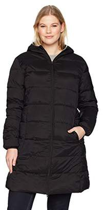 The Plus Project Women's Plus Size Lightweight Down Puffer Jacket with Hood 3X-Large