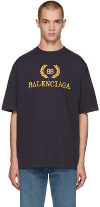 Balenciaga Navy BB T-Shirt