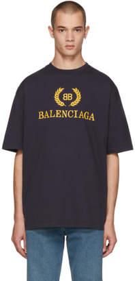 Balenciaga Navy BB T-Shirt
